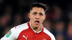 'They are also prepared to meet Sanchez's demand for a signing-on fee of up to £20m in addition to footing a potential £10m bill for the striker's agent' Photo: PA