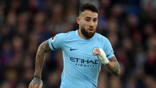 File photo dated 31-12-2017 of Manchester City's Nicolas Otamendi who has signed a contract extension until 2022, the club have announced. (Steven Paston/PA Wire)