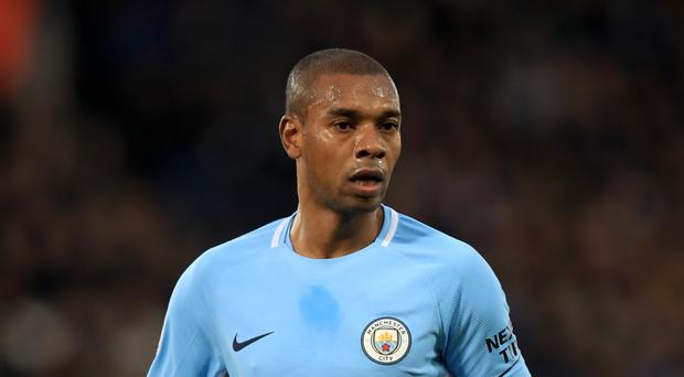 File photo dated 18-11-2017 of Manchester City's Fernandinho who has signed a two-year contract extension through to 2020, the Premier League club have announced. (Mike Egerton/PA Wire)