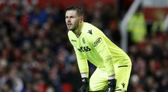 Stoke goalkeeper Jack Butland is going nowhere