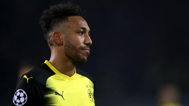 Borussia Dortmund's Pierre-Emerick Aubameyang is a target for Arsenal (John Walton/Empics)