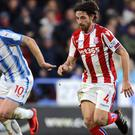 Joe Allen scored the opening goal as Stoke beat Huddersfield