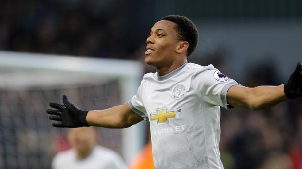 Anthony Martial struck in the 54th minute at Turf Moor (Richard Sellers/EMPICS).