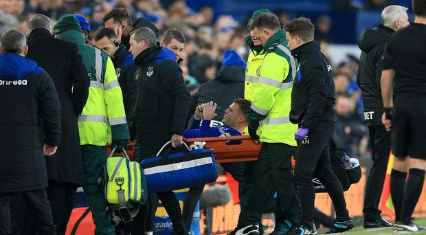 Everton's James McCarthy has broken his leg