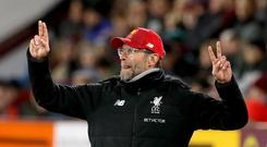 Jurgen Klopp is on his best run as Liverpool manager (Martin Rickett/PA).