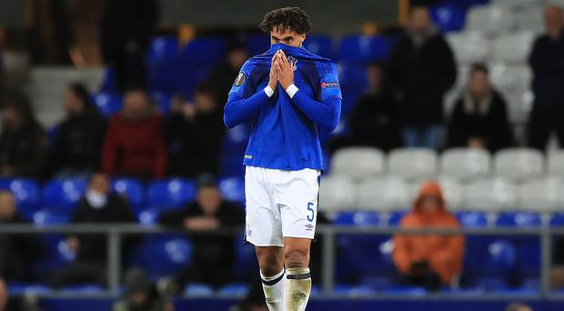 Everton defender Ashley Williams admits they cannot afford to think they are safe (Peter Byrne/PA).