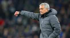 Jose Mourinho rang the changes as his side team Huddersfield