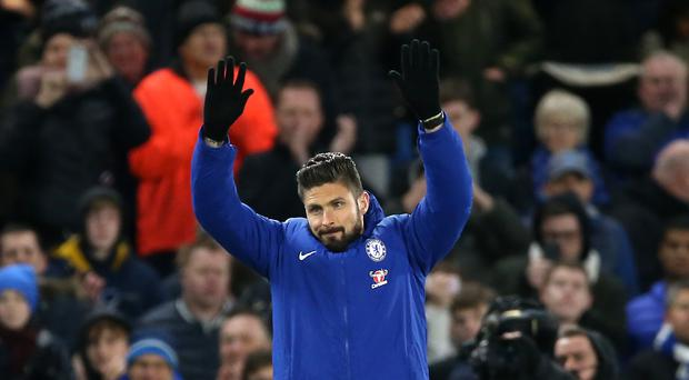 Olivier Giroud signed from Arsenal on deadline day (Nigel French/PA)