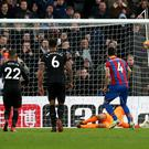 Luka Milivojevic's penalty finds its way past Karl DarlowLuka Milivojevic's penalty finds its way past Karl Darlow