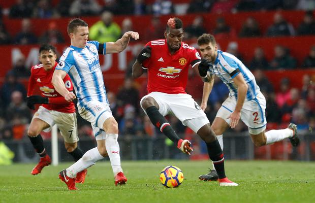 Paul Pogba came off the bench as Manchester United beat Huddersfield