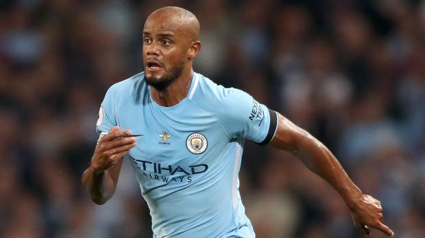 Vincent Kompany is back in action for Manchester City