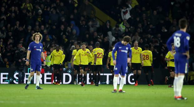 Chelsea lost 4-1 against Watford in the Premier League on Monday night