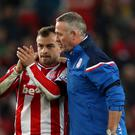 Xherdan Shaqiri, pictured left, has scored five times for Stoke this season