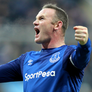 Everton's Wayne Rooney. Photo: PA
