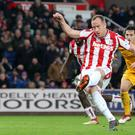 Charlie Adam's late penalty was saved
