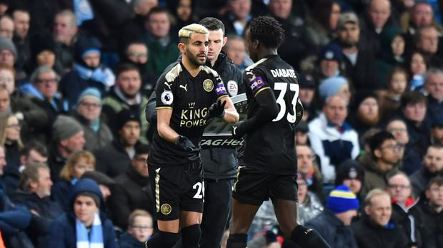 Riyad Mahrez came off the bench at the Etihad Stadium