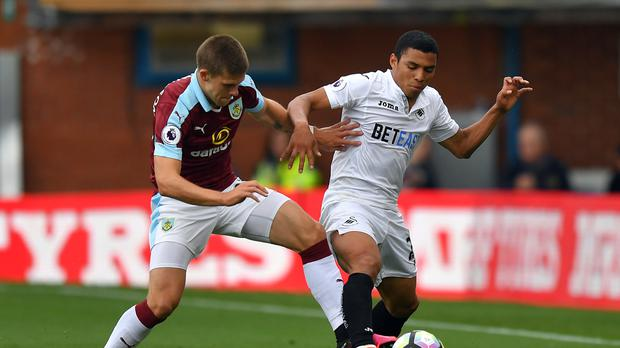 Jefferson Montero, right, has made 72 appearances for Swansea