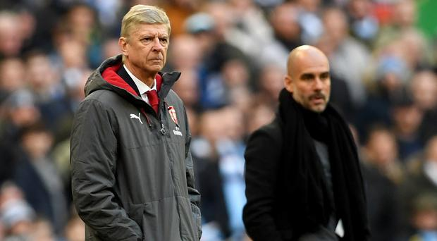 Pep Guardiola shows support for Arsene Wenger as Arsenal suffer another defeat