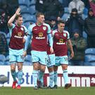 Ashley Barnes, pictured left, got Burnley back on level terms against Everton