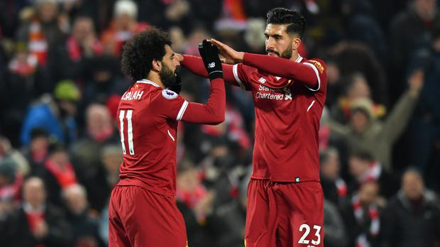 Mohamed Salah (left) is rested