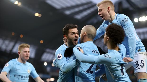 Manchester City's title charge continues as they face Stoke on Monday