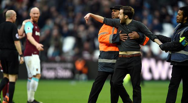 Trouble broke out at the London Stadium