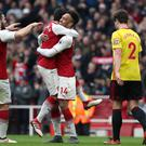Arsenal ended a run of three successive Premier League games with a 3-0 win over Watford