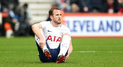 Tottenham forward Harry Kane faces a spell out with an ankle injury (Steven Paston/EMPICS Sport)