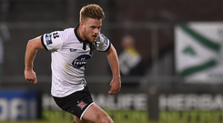 Conor Clifford, in action for Dundalk last year, is prioritising a return to football now when his suspension ends on April 2. Photo: Sportsfile