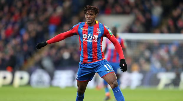 Wilfried Zaha made his first appearance since early February at Huddersfield