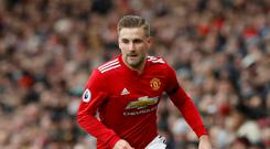 Luke Shaw has been given the backing of Ashley Young