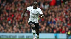 Sadio Mane scored Liverpool's first goal at Selhurst Park and was also booked for diving