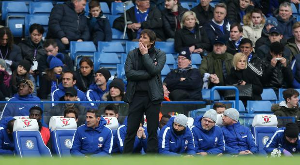 Antonio Conte was in no mood to blame Chelsea's board after the defeat at Tottenham