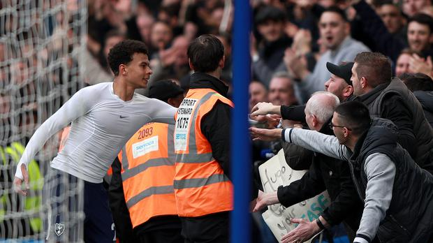 Dele Alli scored twice as Tottenham beat Chelsea 3-1 at Stamford Bridge for the first time in 28 years