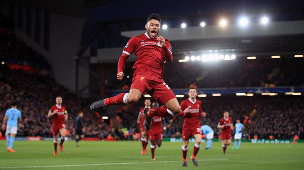 Liverpool's Alex Oxlade-Chamberlain scored as Jurgen Klopp's side blew Man City away in the Champions League