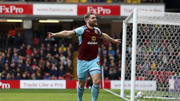 Sam Vokes equalised for Burnley seconds after his arrival on the pitch