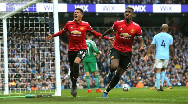 Chris Smalling and Paul Pogba completed a stunning Manchester United comeback