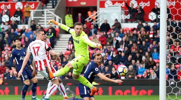 Harry Kane's Premier League tally now stand at 25 after being awarded Spurs' second goal at Stoke