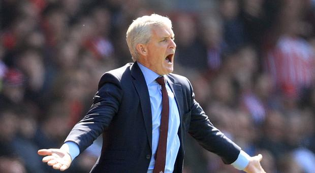 Southampton manager Mark Hughes saw his side collapse against Chelsea (Adam Davy/PA)