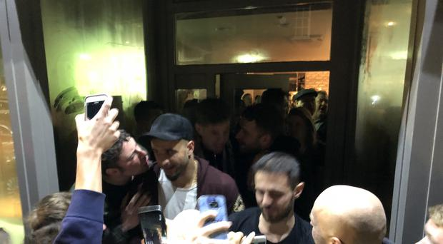 celebrate Manchester City's title success with fans at Hale Wine Bar