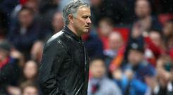 Jose Mourinho's Manchester United slumped to defeat against bottom side West Brom