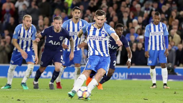Pascal Gross' penalty denied Tottenham victory