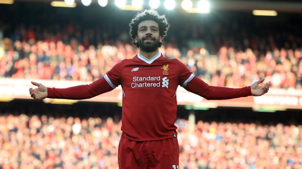 Mohamed Salah has his sights set on Ian Rush's club record for the most goals in a season