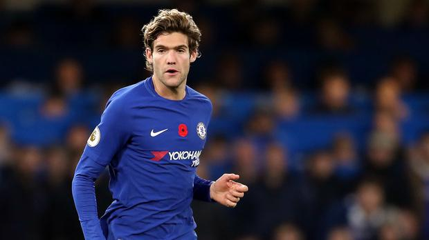 Chelsea defender Marcos Alonso must serve a three-match ban following a charge of violent conduct (Adam Davy/PA Images)