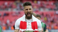 Olivier Giroud won the FA Cup three times with Arsenal (Adam Davy/PA)