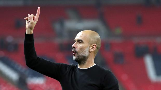 Title-winning manager Pep Guardiola has one more year remaining on his Manchester City contract