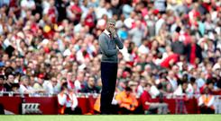 Arsene Wenger faced Arsenal fans for the first time since announcing he will leave at the end of the season