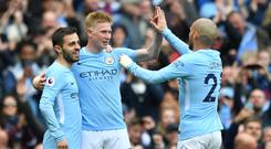 Champions Manchester City overpowered Swansea