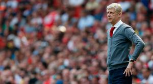 Arsene Wenger watches on from the sideline at the Emirates Stadium yesterday. Photo: AFP/Getty Images