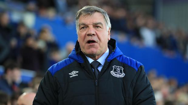 Sam Allardyce's Everton were last as high as eighth in August (Peter Byrne/PA)